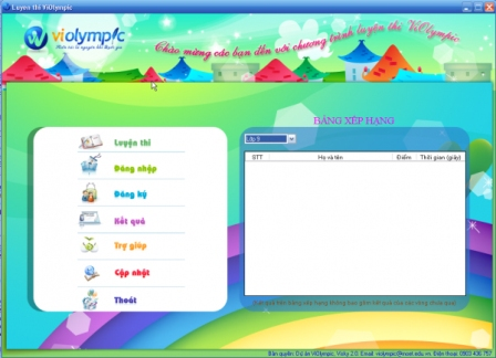 Giao diện Violympic Offline